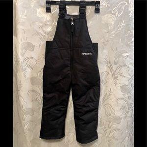 Arctic Snowsuit Black Zip Front Size 3T